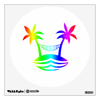 palm hammock beach smile rainbow.png wall skin