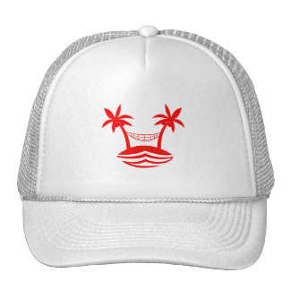 palm hammock beach smile red png mesh hats