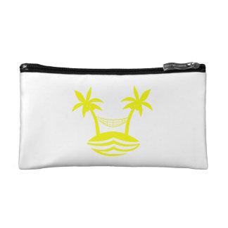 palm hammock beach smile yellow png makeup bag
