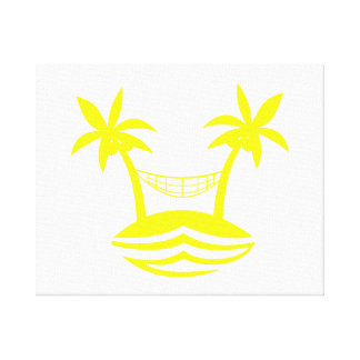 palm hammock beach smile yellow.png gallery wrapped canvas