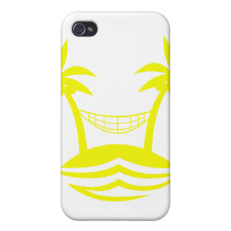 palm hammock beach smile yellow.png iPhone 4 case