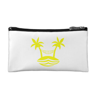 palm hammock beach smile yellow.png makeup bag