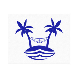 palm hammock beach smileblue png stretched canvas print