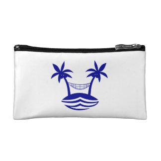palm hammock beach smileblue.png cosmetic bag
