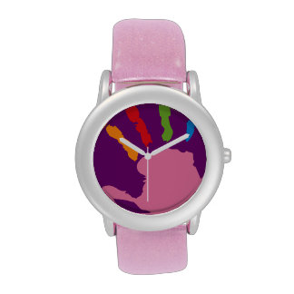 Palm Hand Print Wrist Watch