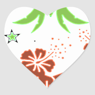palm heart stickers