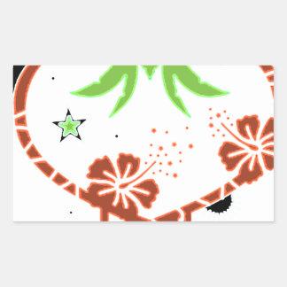 palm heart rectangular sticker