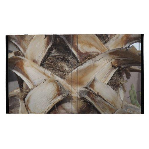 Palm Husk Wood Grain Photo iPad Folio Cases