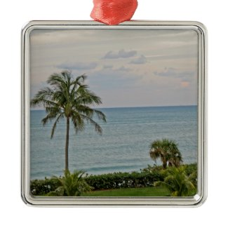 Palm in Paradise Christmas Tree Ornaments