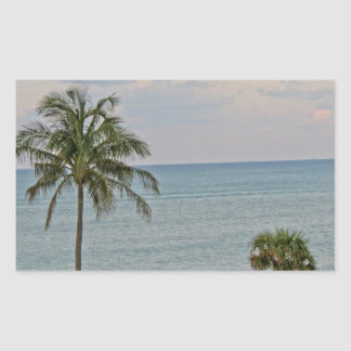 Palm in Paradise Rectangular Sticker