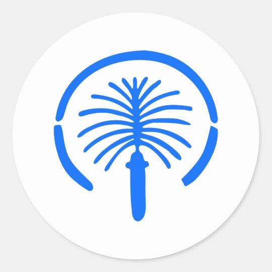 Palm Island - Dubai Classic Round Sticker