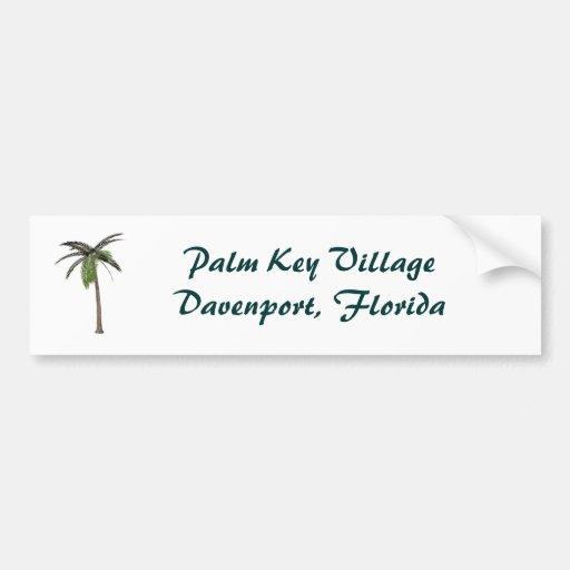 Palm Key Viiage Bumper sticker Car Bumper Sticker