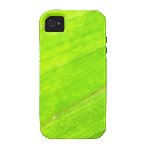 PALM LEAF 1618 LIGHT NEON GREEN NATURE VEGETATION iPhone 4 CASE