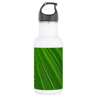 Palm Leaf Abstract Colorful Green Water Bottle