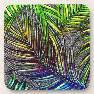 Palm Leaf Art Beverage Coaster