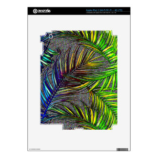 Palm Leaf Art Decals For iPad 3