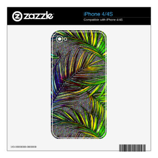 Palm Leaf Art Decals For The iPhone 4S