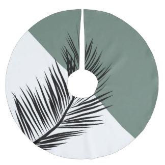 Palm leaf brushed polyester tree skirt