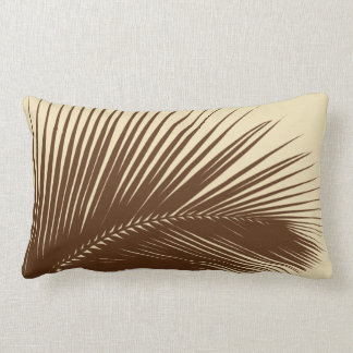 Palm leaf - Dark brown and tan Pillow