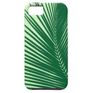 Palm leaf - emerald and lime green iPhone 5 cover