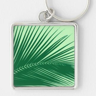 Palm leaf - emerald and lime green key chain