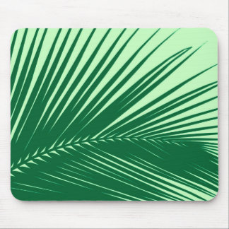 Palm leaf - emerald and lime green mouse pad