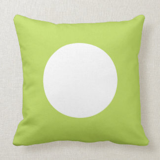 Palm Leaf Green and White Polka Dot Reversible Throw Pillow