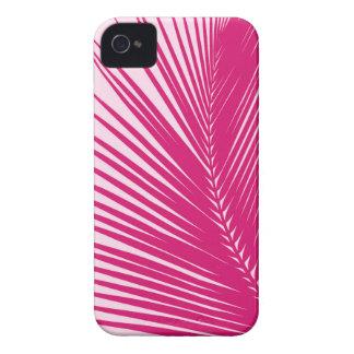Palm leaf - magenta pink iPhone 4 cases