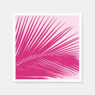 Palm leaf - magenta pink paper napkin