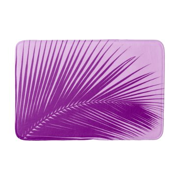 Beach Themed Palm leaf - orchid and purple bathroom mat