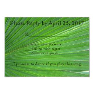 Palm Leaf Rsvp Card