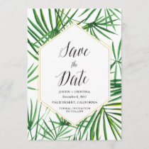 Palm Leaf Save the Date