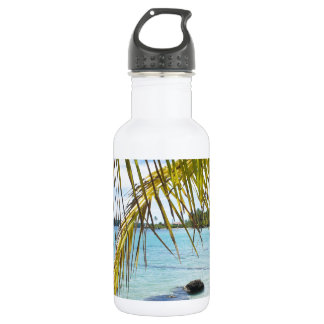 palm leaf stainless steel water bottle