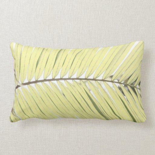 Palm leaf throw pillows