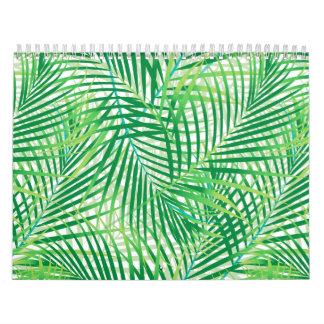 Palm leaves calendar