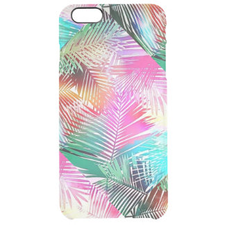 Palm leaves clear iPhone 6 plus case