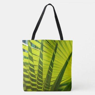 Beach Themed Palm Leaves Fan, Kauai, Hawaiian Beach Bag