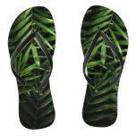 Palm leaves flip flops