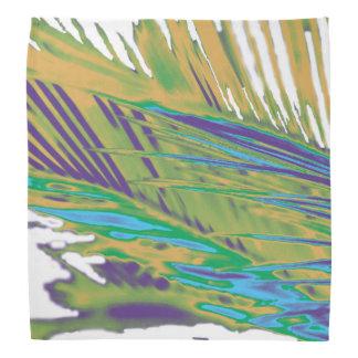 Palm Leaves Gold, Purple and Green Bandana