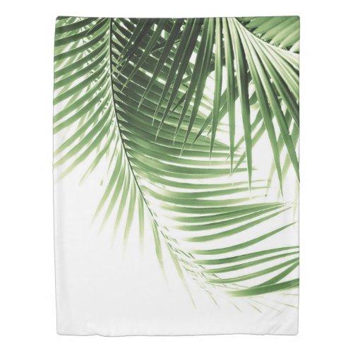 Palm Leaves Green Vibes #9 Duvet Cover