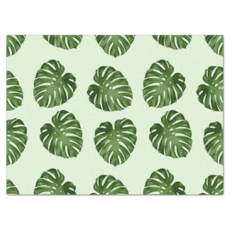 """Palm Leaves, Leaf Pattern - Green 17"""" X 23"""" Tissue Paper"""