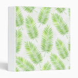 Palm leaves pattern 3 ring binder