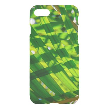 Beach Themed Palm Leaves Plaid, Kapaa, Kauai, Hawaii Wetsuit iPhone 7 Case