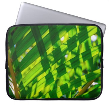 Beach Themed Palm Leaves Plaid, Kapaa, Kauai, Hawaii Wetsuit Laptop Sleeve