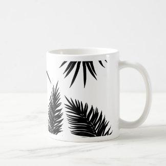 Palm Leaves Silhouettes Coffee Mug