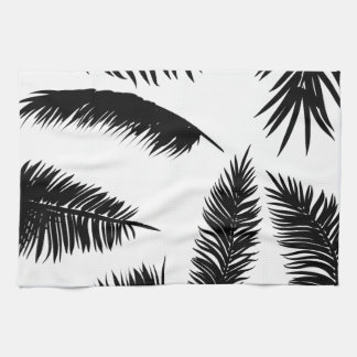 Palm Leaves Silhouettes Kitchen Towel