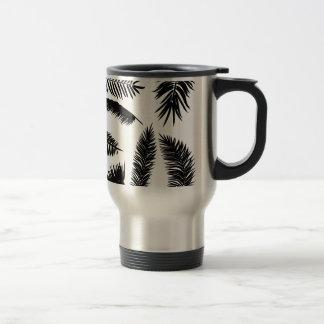 Palm Leaves Silhouettes Travel Mug