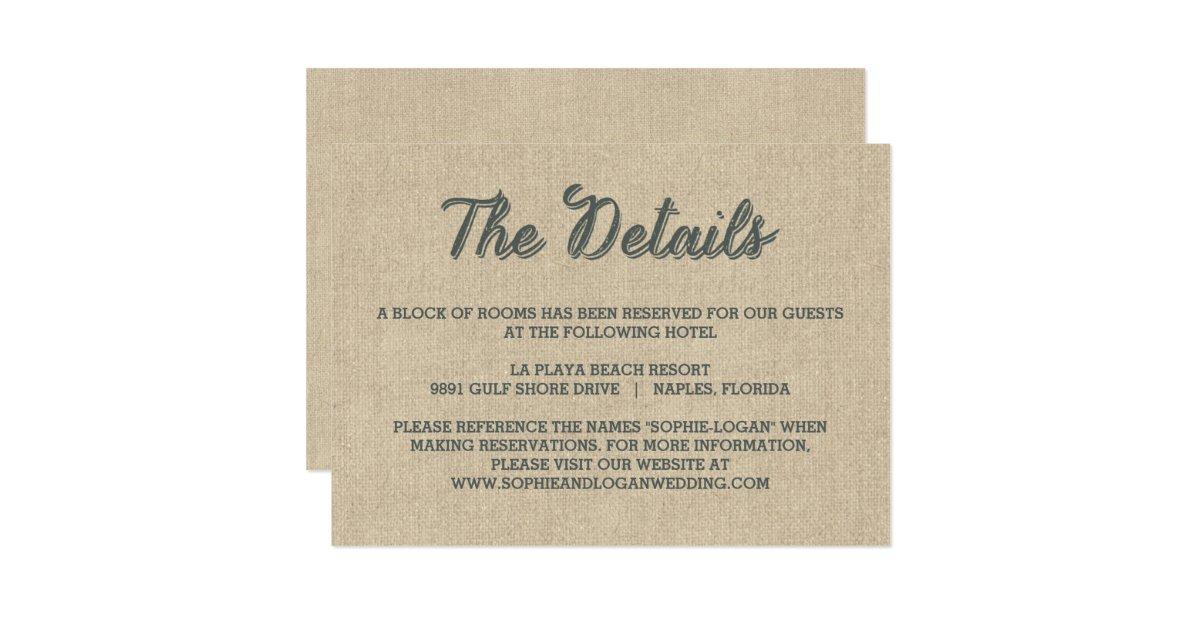 Palm Leaves Wedding Enclosure Cards