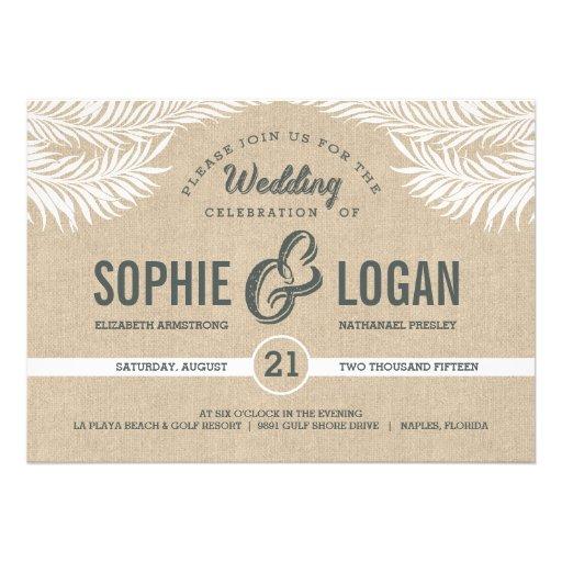 Palm Leaves Wedding Invitations