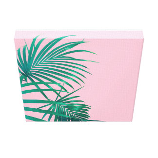 Palm leaves wrapped canvas